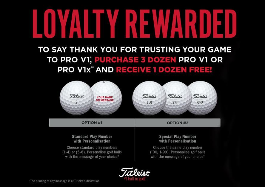 Loyalty Rewarded 2018: Titleist 4 for 3 Ball Promotion