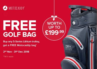Motocaddy Christmas Free Golf Bag Promotion