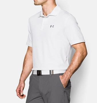 Under Armour Performance Polo - White, golf clothing mens black friday deal