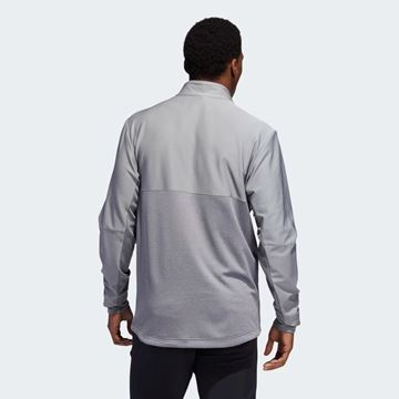 Adidas GOTO Quarter Zip Jacket - Grey, Mens golf clothing, black friday deal