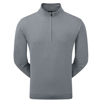 Footjoy Lined Quarter Zip Sweater - Steel, golf clothing mens, black friday deal