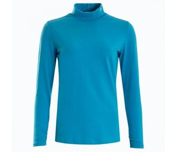 Green Lamb Ladies Robin Rollneck - Fjord Blue, golf clothing ladies, black friday deal