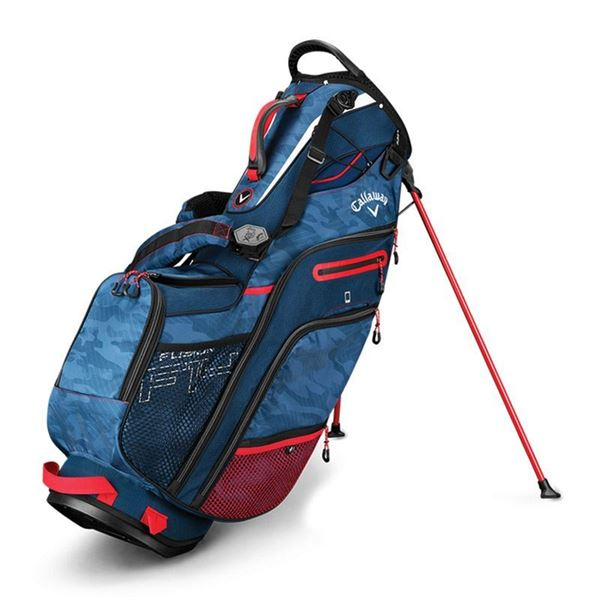 Fusion 14 Stand Bag Camo Red Wht