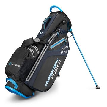 CALLAWAY HYPERDRY FUSION STAND BAG BLK/ROY/SILV  GOLF STAND BAG