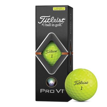 Titleist Pro V1 Yellow Golf Balls 2019, golf balls