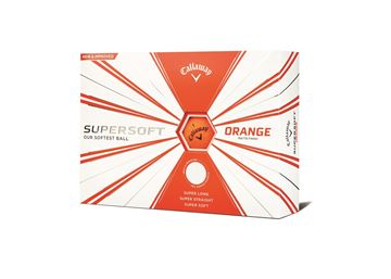 Picture of Callaway Supersoft 12 Golf Balls  Matte  Orange 2019