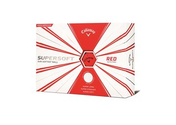 Picture of Callaway Supersoft 12 Golf Balls  Matte  Red 2019