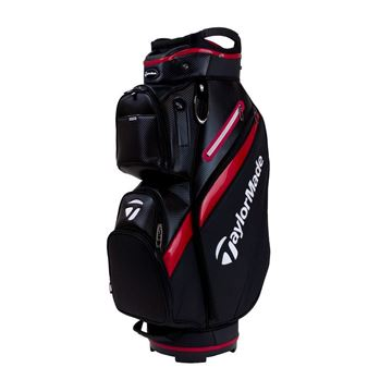 Taylormade Deluxe Cart Bag - BLK/RED GOLF CART BAG