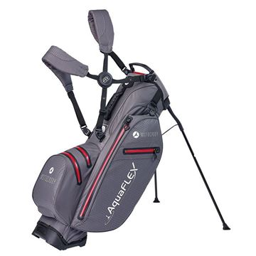 Motocaddy Aquaflex Stand Bag - Charcoal/Red, golf bags