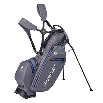 Motocaddy Aquaflex Stand Bag - Charcoal/Blue, golf bags