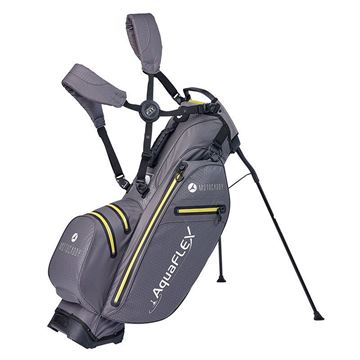 Motocaddy Aquaflex Stand Bag - Charcoal/Lime, golf bags