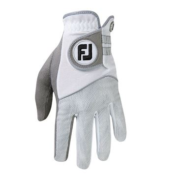 FootJoy RainGrip Glove For the Right Handed Golfer - Grey/White, golf gloves mens