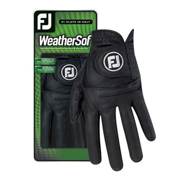 FootJoy WeatherSof Glove Black For the Right Handed Golfer