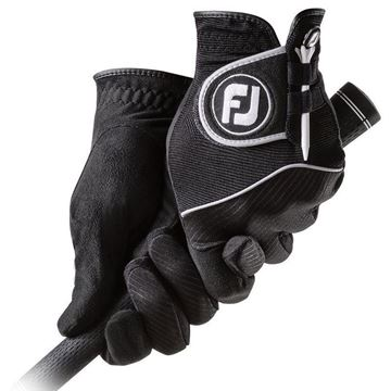 FootJoy Ladies RainGrip Black Pair of Gloves For the Right Handed Golfer