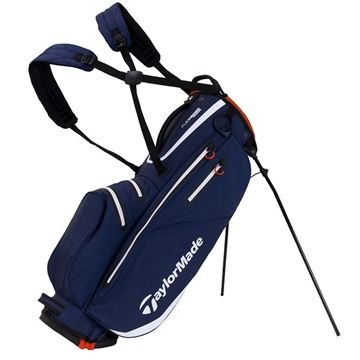 Taylormade FlexTech Waterproof Stand Bag - Navy/White/Red, golf bags