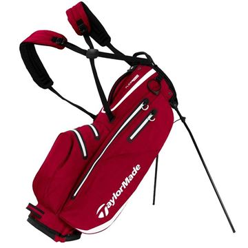 Taylormade FlexTech Waterproof Stand Bag - Red/White, golf bags