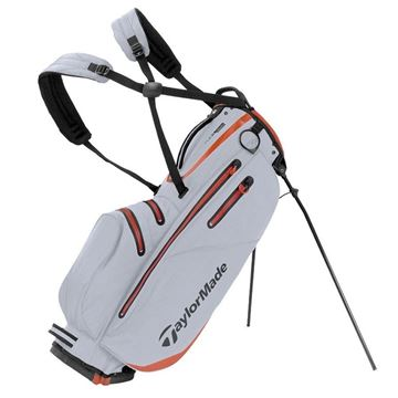 Taylormade FlexTech Waterproof Stand Bag - Silver/Red, golf bags
