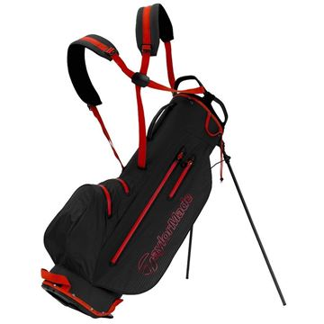 Taylormade LiteTech Waterproof Stand Bag - Black/Red, GOLF BAGS