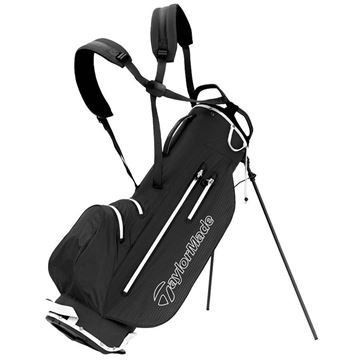 Taylormade LiteTech Waterproof Stand Bag - Black/White, GOLF BAGS