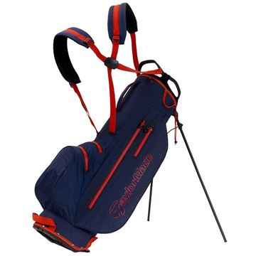 Taylormade LiteTech Waterproof Stand Bag - Navy/Orange, GOLF BAGS