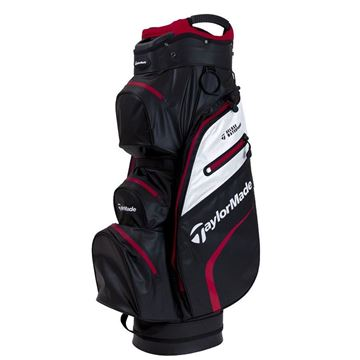 Taylormade Deluxe Waterproof Cart Bag - Black/White/Red, golf bags