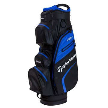 Taylormade Deluxe Waterproof Cart Bag - Black/Blue, golf bags