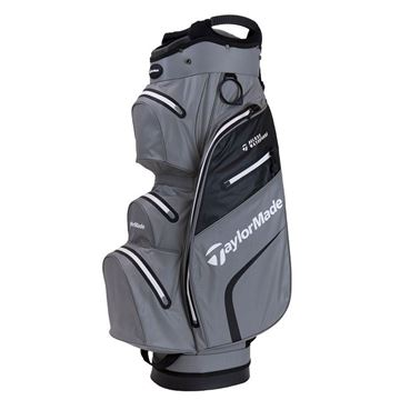 Taylormade Deluxe Waterproof Cart Bag - Grey/Black, GOLF BAGS