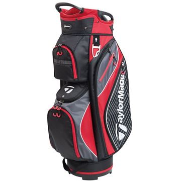 Taylormade Pro Cart 6.0 Golf Bag - Black/Charcoal/Red, GOLF BAGS