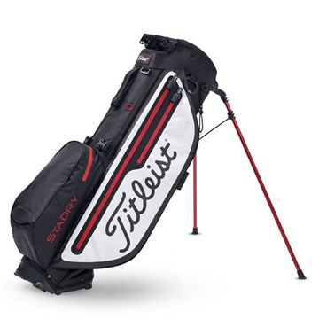 Titleist Players 4 Plus StaDry Carry Bag - Black/White, golf bags