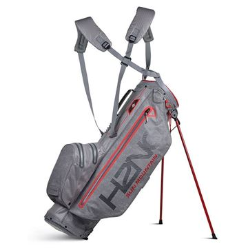 Sun Mountain H2NO Superlite 2019 Stand Bag - Grey/Fire, GOLF BAGS