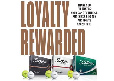 Titleist 4 FOR 3 Ball Offer