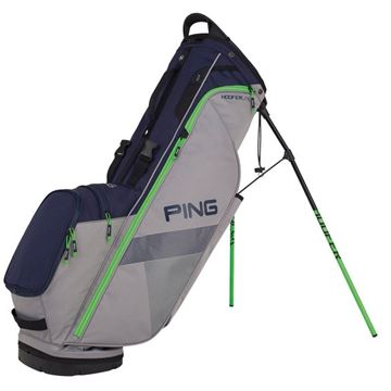 Ping Hoofer Lite Stand Bag - Silver/Navy, GOLF BAGS