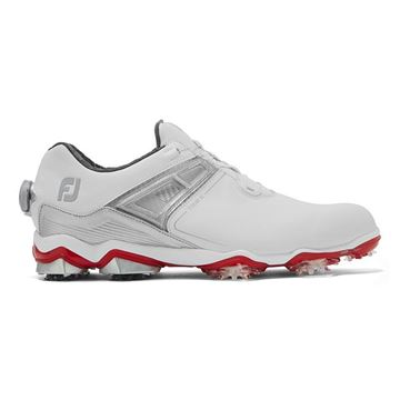 Footjoy Tour X BOA Golf Shoes - White 55406, Golf Shoes Mens