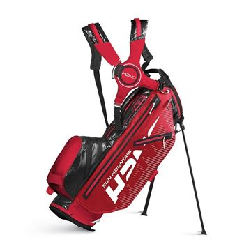 Sun Mountain H2NO 14 Way Stand Bag - Red/Black, Golf Bags