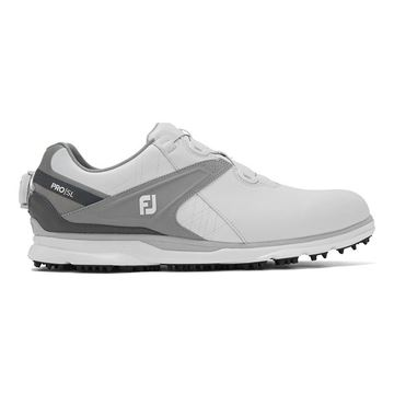Footjoy Pro SL BOA 2020 Golf Shoes - White/Grey - 53817, Golf Shoes