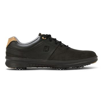 Footjoy Contour Spike Golf Shoes - Black - 54194, Golf Shoes Mens