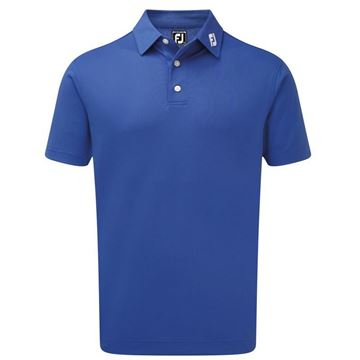 Footjoy Stretch Pique Solid - Blue, Black Friday deals golf clothing
