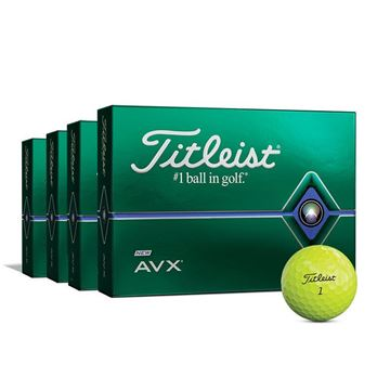 Titleist Pro AVX Yellow 4 FOR 3 Ball Offer - Personalised, Golf Balls
