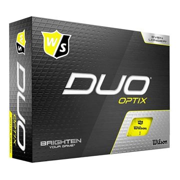 Wilson DUO Optix Yellow Golf Balls