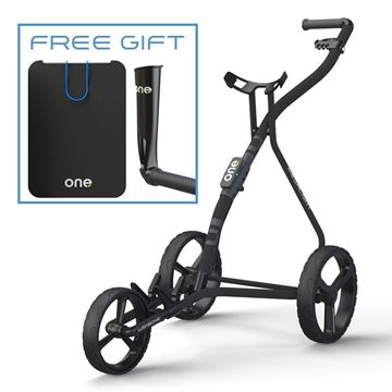Wishbone Model One - Black, Golf push trolleys