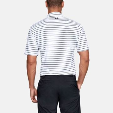 Under Armour Playoff 2.0 Tour Stripe - White/Black, Golf Clothing Polos