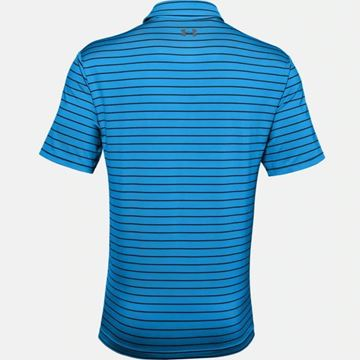 Under Armour Playoff 2.0 Tour Stripe - Electric Blue, Golf Clothing Polos
