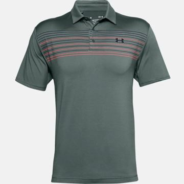 Under Armour Playoff 2.0 Chest Stripe - Lichen, Golf Clothing Polos