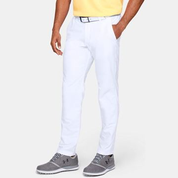 Under Armour Performance Slim Taper Trouser - White, Golf Clothing Trousers
