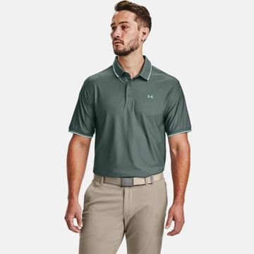 Under Armour Playoff Pique Polo - Lichen, Golf Clothing Polos
