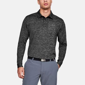 Under Armour Playoff 2.0 LS Polo - Black, Golf Clothing Polo