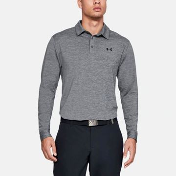 Under Armour Playoff 2.0 LS Polo - Grey, Golf Clothing Polos