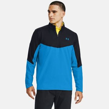 Under Armour Storm Midlayer 1/2 Zip - Electric Blue, Golf Clothing Midlayers