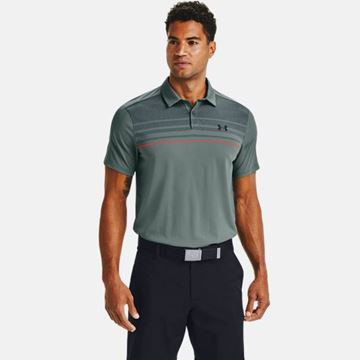 Under Armour Vanish 1Up Polo - Lichen, Golf Clothing polos
