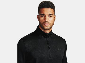 Under Armour Storm Sweaterfleece 1/2 Zip - Black, Golf Clothing Tops